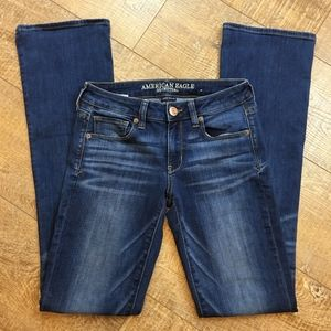 American Eagle Skinny Kick Bootcut Jeans 2 Long